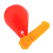 "Nacsan 9"" Hard plastic float Orange + 30m 6mm rope"